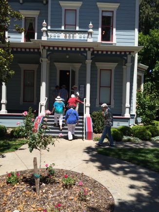 Our private tour of the historic Jack House begins.