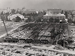 Pauley Pavilion under construction