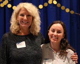 Michele Farmer '94 and Francesca Deprima (Exp. '20)
