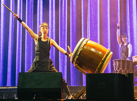 Traditional Taiko drummers