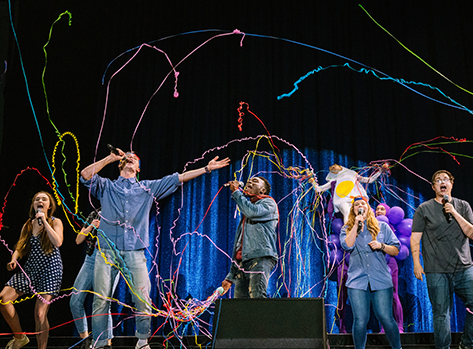 Wild Company sketch with streamers