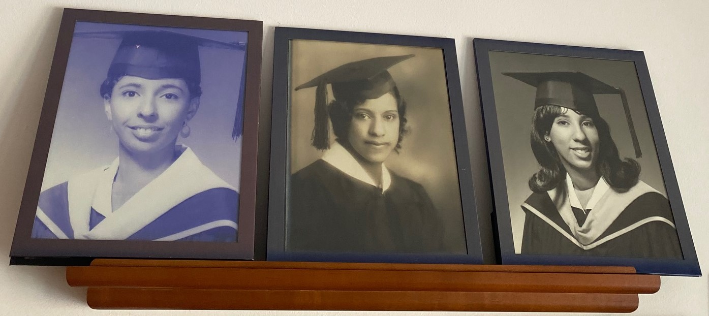 Teresa White Riddle '68, M.Ed. '76; Edith Keyser White '31; and Alice White Parrish '69