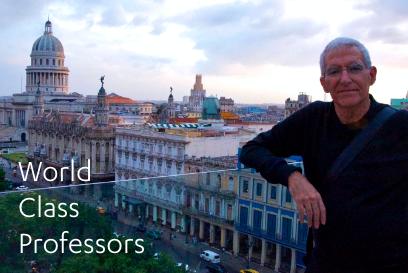 A traveling professor