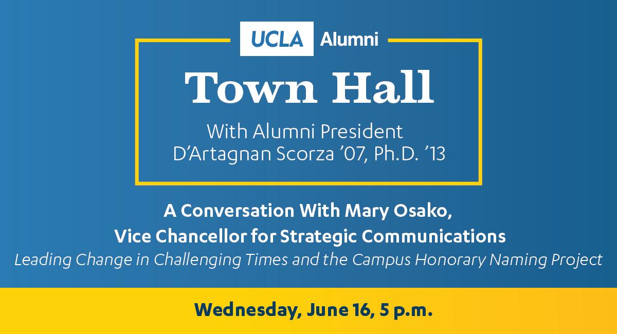 Alumni Town Hall - June 16,2021 - Mary Osako