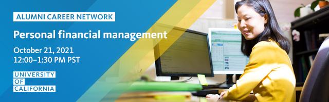 UC ALUMNI CAREER NETWORK   Personal financial management