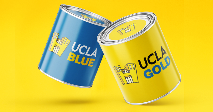 UCLA Blue and Gold Paint Cans