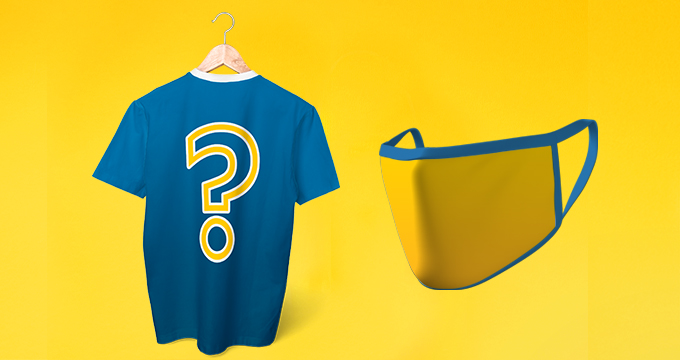 Generic Shirt and Mask in UCLA Colors